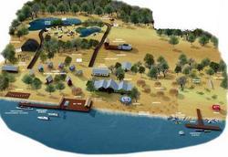 Maqueta del Proyecto Isla Carpincho: Se puede llegar por tierra utilizando el primer puente del Complejo Brazo Largo
