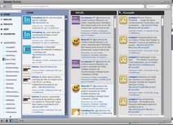 Seesmic Desktop, una aplicación de escritorio que integra muchas cuentas de twitter y una de facebook